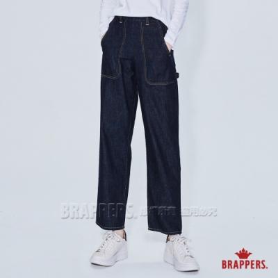 BRAPPERS 女款 Boy friend系列-高腰直筒工作褲-深藍