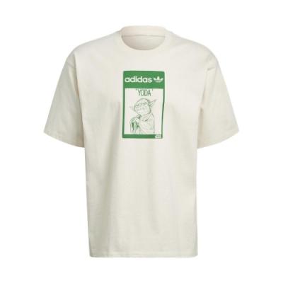 adidas T恤 Original Tee Yoda 男女款 愛迪達 三葉草 尤達大師 圓領 棉質 淺褐 綠 GP3461