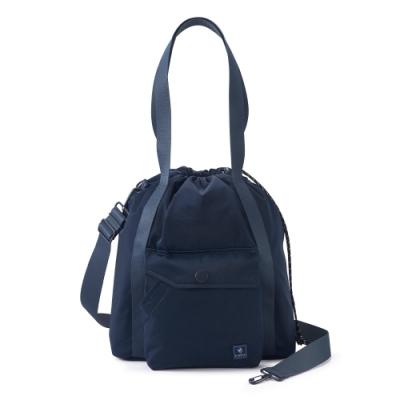 PORTER - 濃縮記憶LAPSE手提斜背兩用水桶包(M) - 深藍