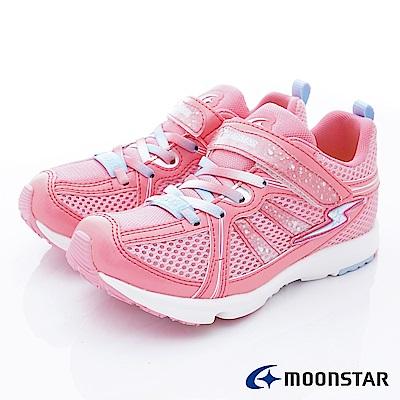 日本月星頂級競速童鞋 2E輕量運動款 EI494粉(中大童段)