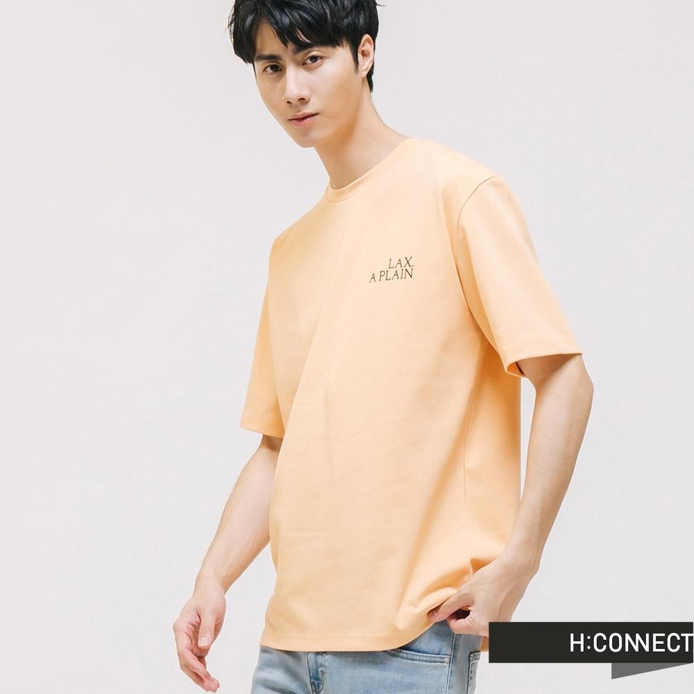 H:CONNECT 韓國品牌 男裝 -圓領相片感圓領T-Shirt-黃