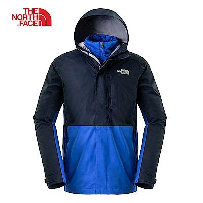 The North Face北面男款海軍藍防水透氣三合一夾克|3L8O1SB