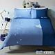 YVONNE COLLECTION貓咪雙人三件式被套+枕套組(6x7呎)-藍紫 product thumbnail 1