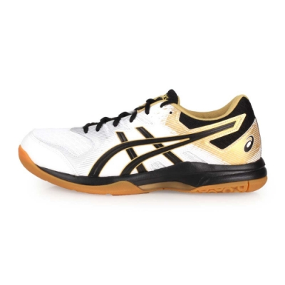 ASICS 男 排羽球鞋 GEL-ROCKET 9 白黑金