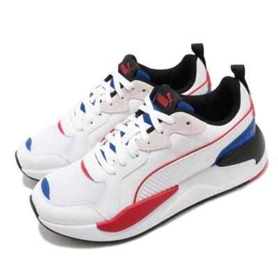 Puma 休閒鞋 X-Ray Game 復古 男女鞋 老爹鞋 厚底 麂皮 球鞋穿搭 白 藍 37284905