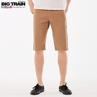 BigTrain 吸濕排汗刺繡配布短褲-男-卡其