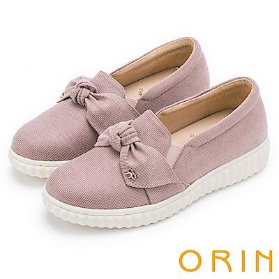 ORIN 俏麗女孩 立體蝴蝶結休閒平底便鞋-粉色