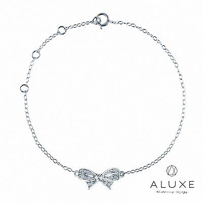 A-LUXE 亞立詩 18K金 緞帶鑽石手鍊