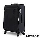 【ARTBOX】尚旅風情 24吋超輕量商務行李箱(黑色)
