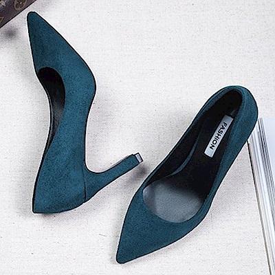 KEITH-WILL時尚鞋館 特惠款涼感夏日高跟鞋-藍色