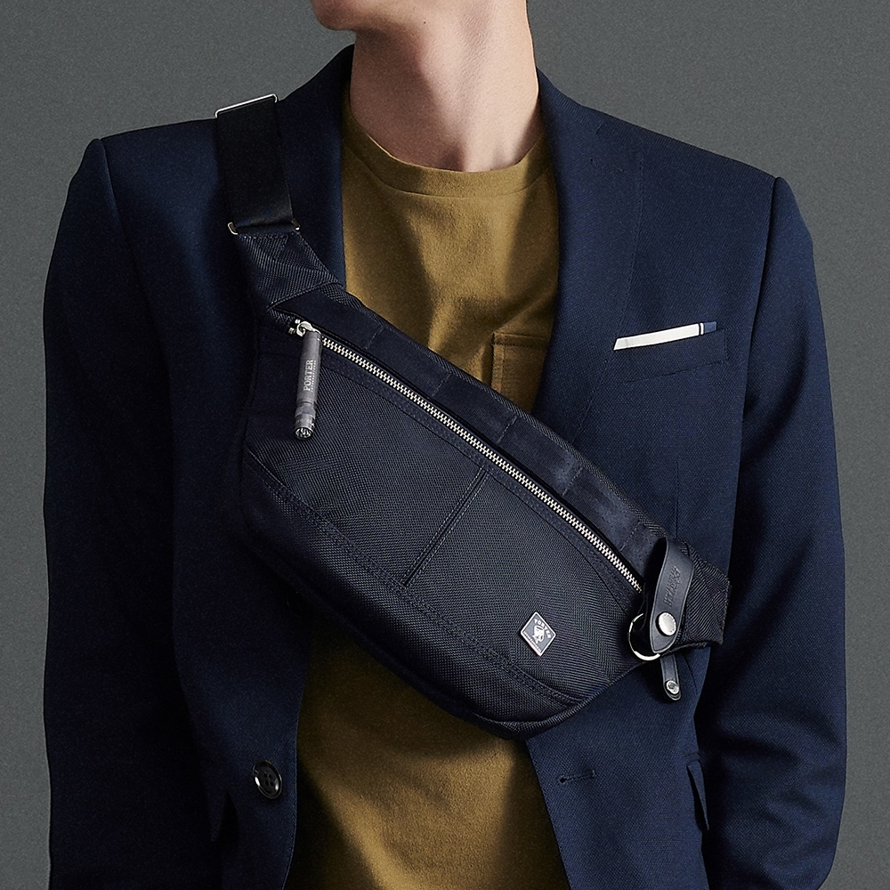 PORTER - 經典新進化NEW HEAT潮流時尚腰包 - 深藍