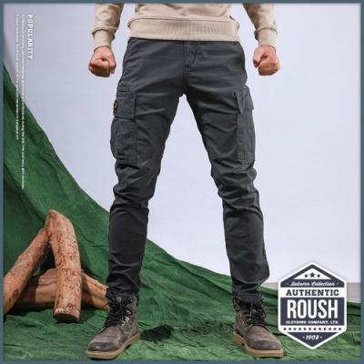 Roush 高磅數雙口袋水洗工作長褲(3色)