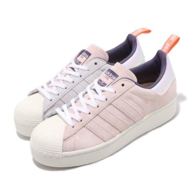 adidas 休閒鞋 Superstar Plateau 女鞋 愛迪達 三葉草 聯名 厚底 穿搭 流行 米 粉 FW8084