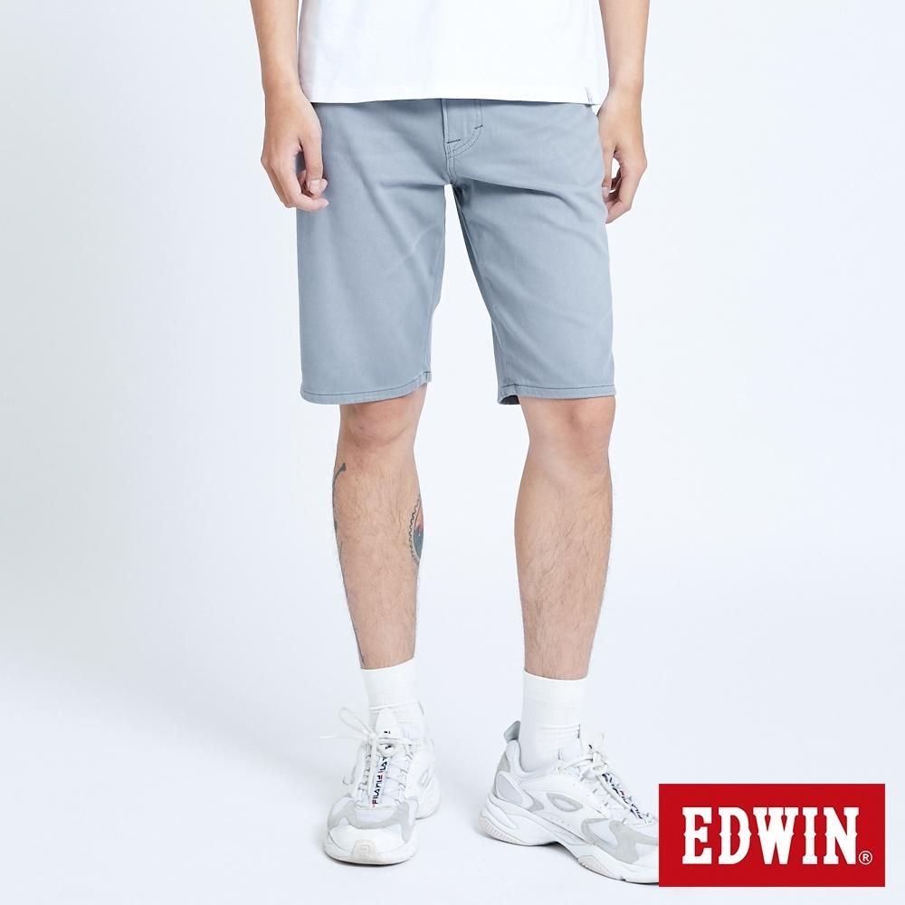 EDWIN 大尺碼 JERSEYS 迦績 EJ9 涼感 EFS 休閒短褲-男-灰色