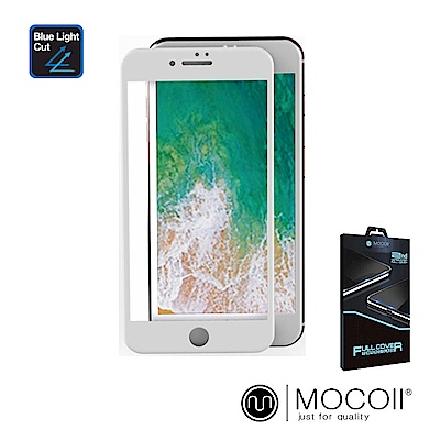Mocoll 2.5D 9H 抗藍光 鋼化膜 - iPhone 7+/8+ 專用 (白色)