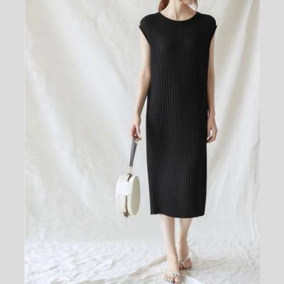 2F韓衣-簡約素色氣質針織洋裝-2色(F)