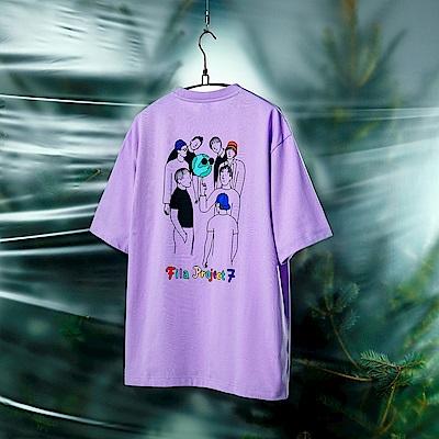 FILA #Back To Nature 短袖圓領T恤-紫色 1TEV-1229-PL