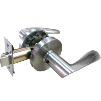 加安 LYUX203P 現代風系列通道鎖 60mm 磨砂銀 圓套盤 水平把手鎖 水平鎖