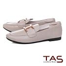 TAS雙C金屬飾扣牛皮樂福鞋-時尚米
