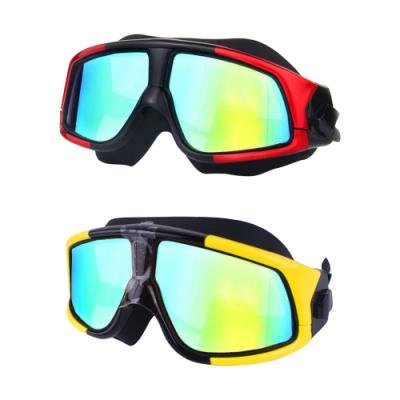【COMET】電鍍平光超大鏡框防水防霧成人泳鏡(YY-6621)