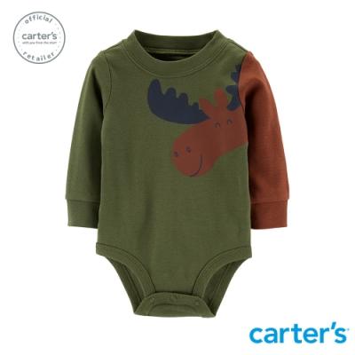 Carter's台灣總代理 聖誕麋鹿造型包屁衣