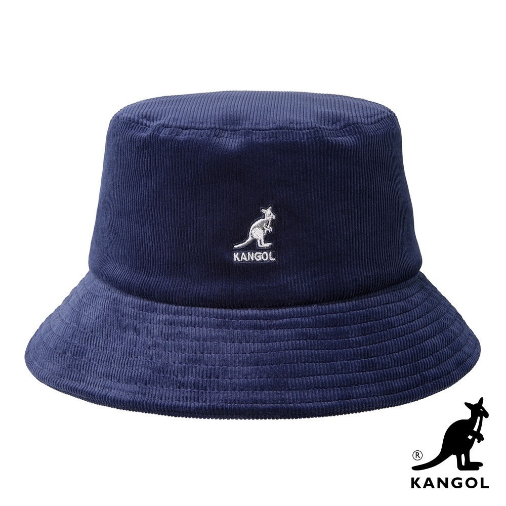 KANGOL-燈芯絨漁夫帽-深藍色