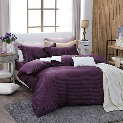 LASOL睡眠屋-100%奧地利天絲 特大兩用被床包四件組自然純色誘惑紫