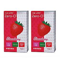 FUJI LATEX ZERO-0 零零系列 草莓果香型 衛生套 保險套 12入/盒x2盒