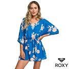 【ROXY】LOIA BAY DRESS 絲質印花洋裝 藍