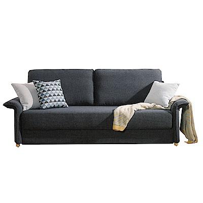 品家居 多艾灰亞麻布展開式沙發床-215x90x79cm-免組
