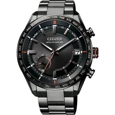 CITIZEN 星辰 GPS光動能衛星對時鈦金屬手錶(CC3085-51E)
