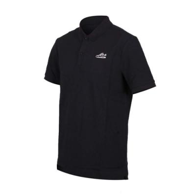 NIKE 男短袖針織POLO衫-短袖上衣 慢跑 路跑 黑白