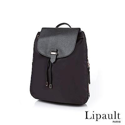 法國時尚Lipault Plume Avenue優雅後背包S(亮黑)