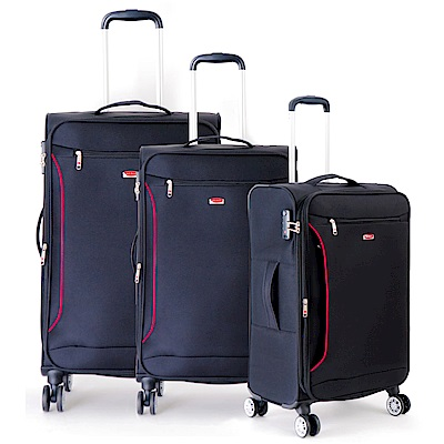 DF travel - 說走就走!休閒輕旅布面20+24+28吋3件組行李箱-共2色