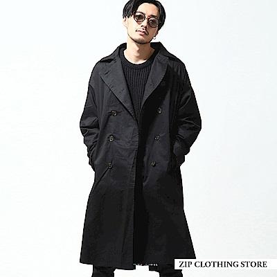 基本款長大衣(2色) ZIP日本男裝