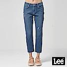 Lee 中腰標準合身小直筒牛仔褲/DC-401-中藍色洗水