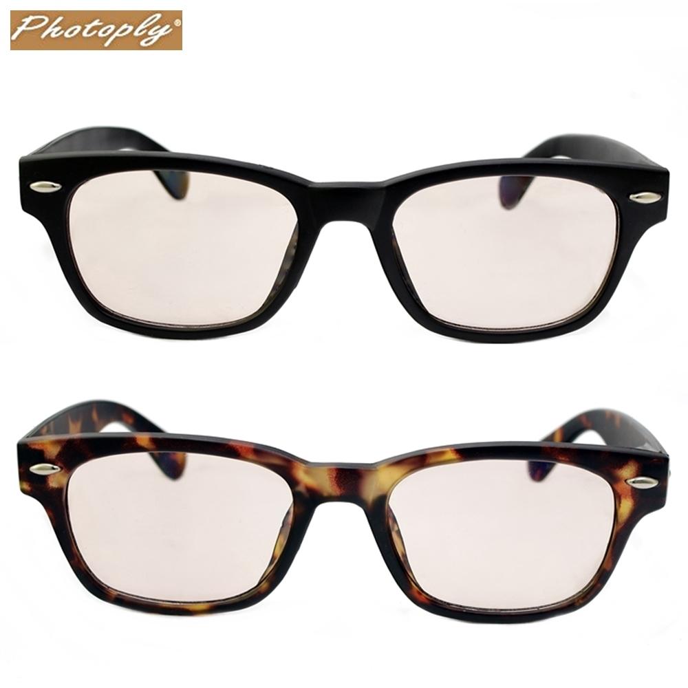 台灣製造PHOTOPLY威靈頓框英倫風防藍光眼鏡2108-BK/TA-CD12A(過濾50%藍光和100% UV紫外光;太空防爆鏡片)抗藍光眼鏡anti-blue glasses