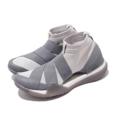 adidas 訓練鞋 PureBOOST 3代 運動 襪套式 女鞋 海外限定 愛迪達 無鞋帶 Trainer 灰 白 DA8964