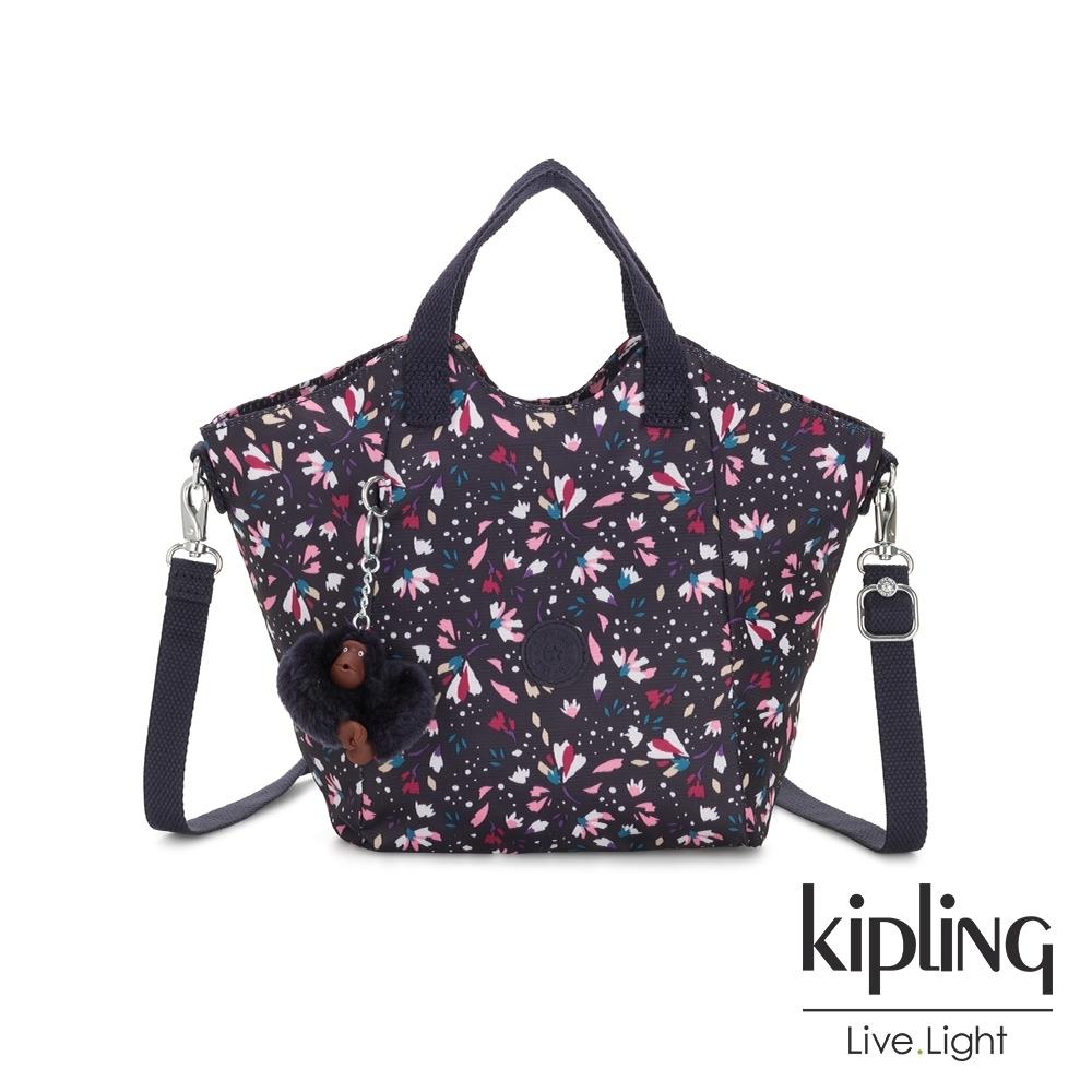 Kipling 絢麗百花輕盈手提斜背包-NORI