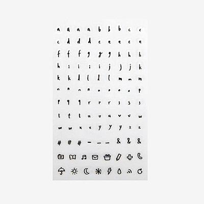 Dailylike 日日美好裝飾透明貼紙-17 手寫字母