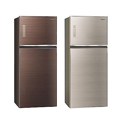 [無卡分期12期]Panasonic國際牌 玻璃 雙門 電冰箱 NR-B429TG