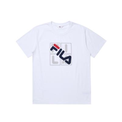FILA 男短袖圓領T恤-白色 1TEU-1524-WT