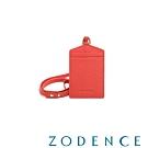 ZODENCE DUTTI系列進口牛皮可調式頸帶直式證件套 橘