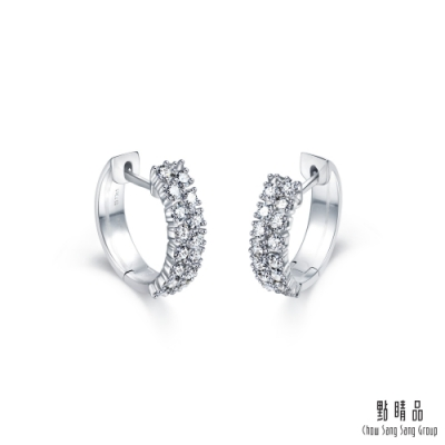 點睛品 68分 華麗鋒芒 18K金鑽石耳環