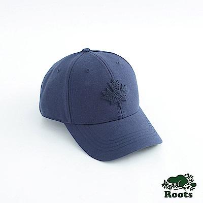 Roots-配件- 摩登楓葉棒球帽-藍