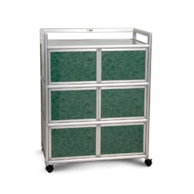 Cabini小飛象-花崗綠3.0尺鋁合金6門收納櫃88.5x50.8x115.3cm