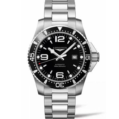 LONGINES 浪琴 深海征服者潛水機械錶(L38414566)-黑/44mm