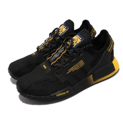 adidas 休閒鞋 NMD R1 V2 男女鞋 愛迪達 三葉草 Boost中底 情侶鞋 黑 黃  GY5354