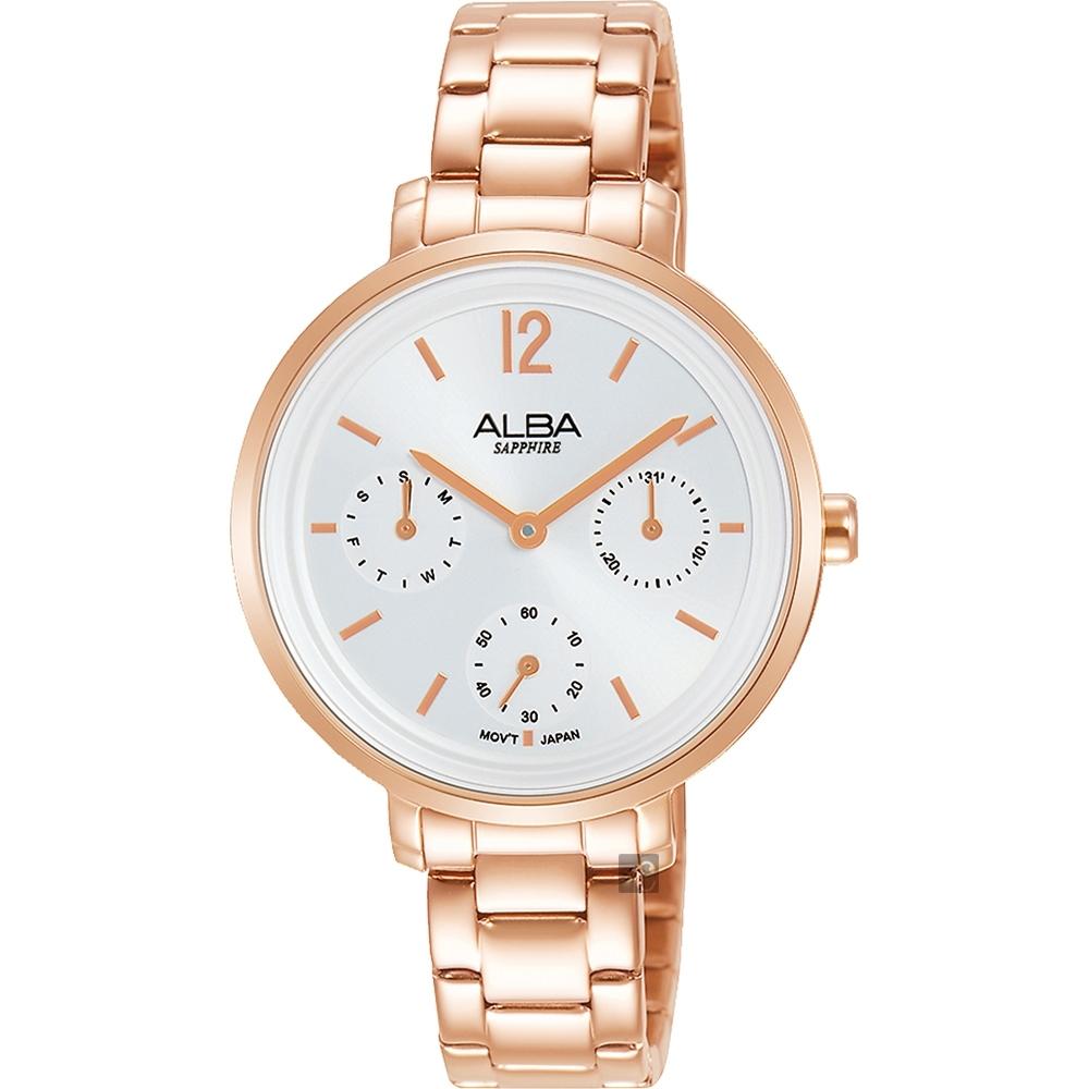 ALBA 雅柏 率性俏女孩日曆手錶(AP6658X1)-34mm