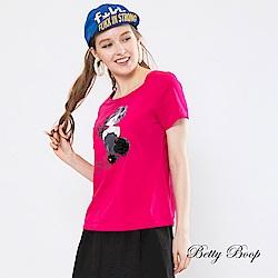 Betty Boop貝蒂 方領立體紗花柔棉上衣(共兩色)
